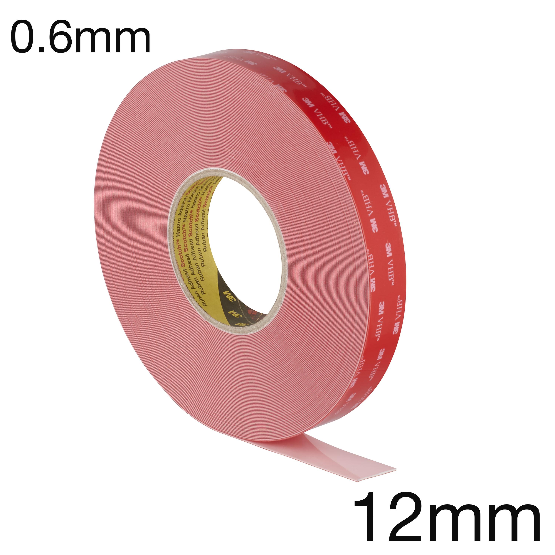 3M LSE-060WF VHB Hochleistungs-Klebeband speziell für kritische Kunststoffe, doppelseitig, weiss, 0.6mm, 12 mm x 33m