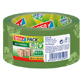 * NEU * tesapack ECO & STRONG PP-Verpackungsband 58156, 100 % recycled plastic, grün, mit Recycle-Logo, 50mmx66m